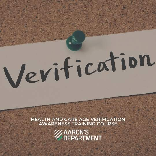 health and age verification