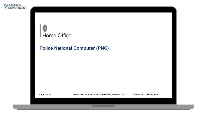 Police National Computer