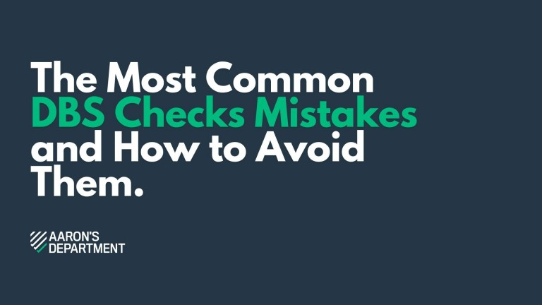 most common DBS Check mistakes