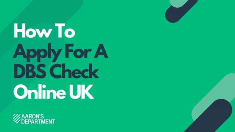 how to apply for a dbs check online uk