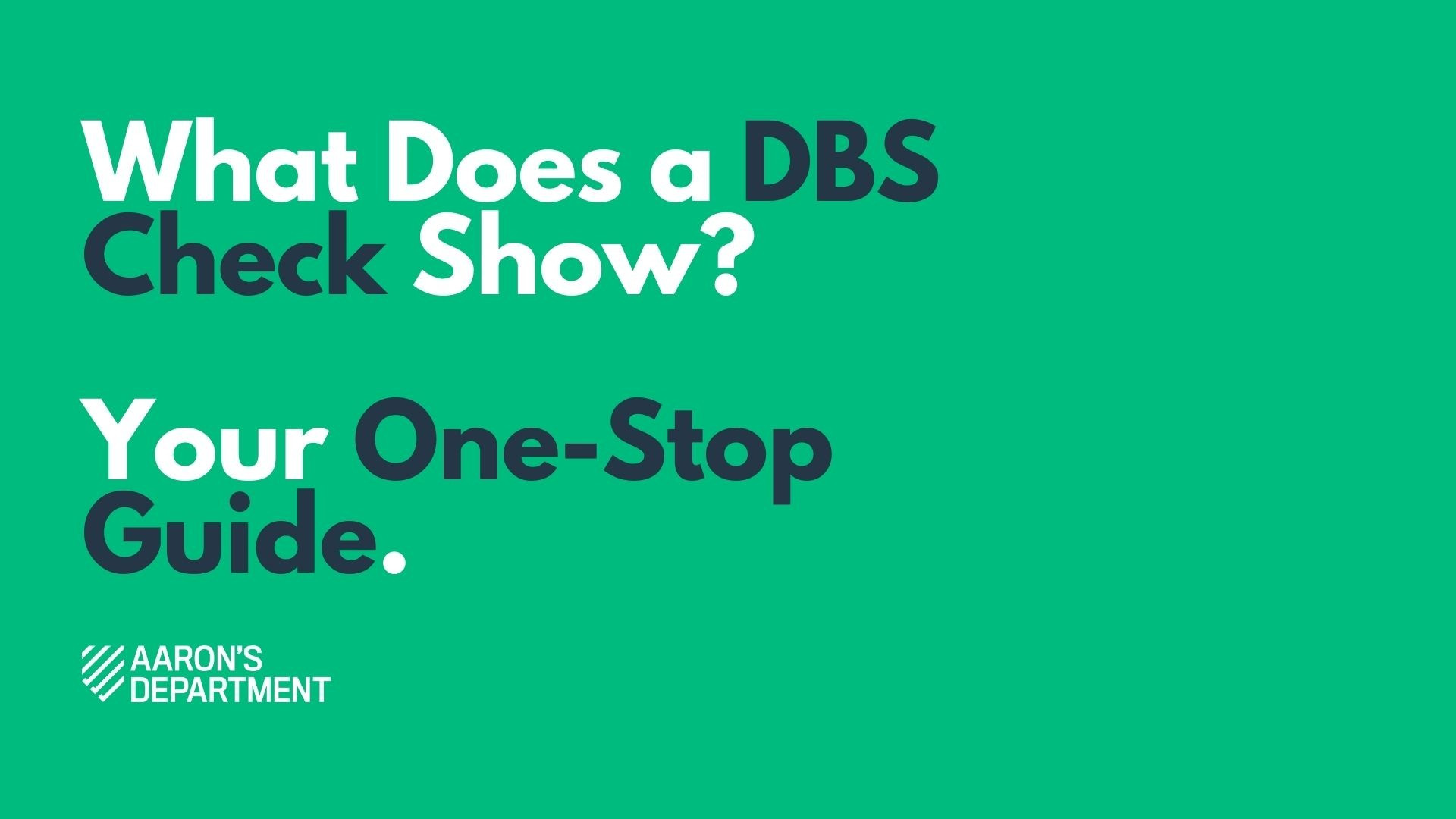 what does a dbs check show?