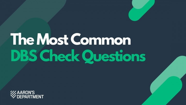 the most common dbs check questions