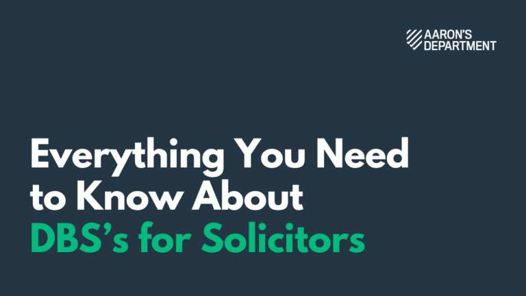 Everything You Need to Know about DBS's For Solicitors