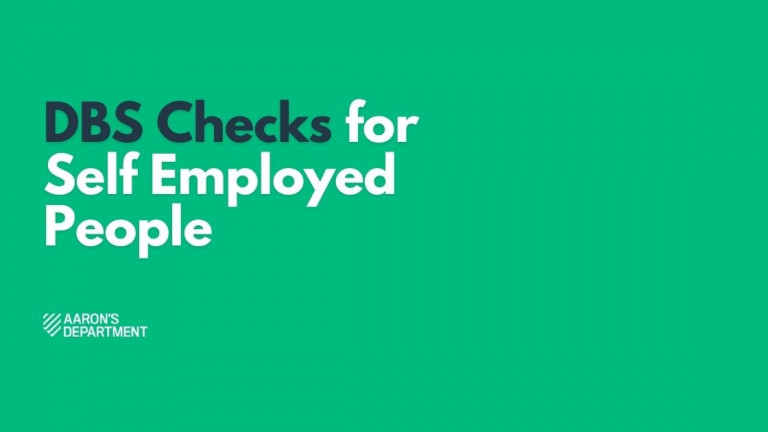 dbs checks for self employed people