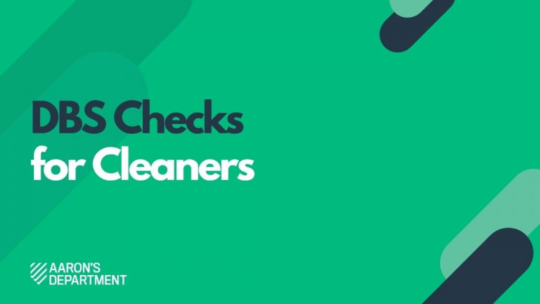 dbs checks for cleaners