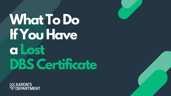 lost dbs certificate