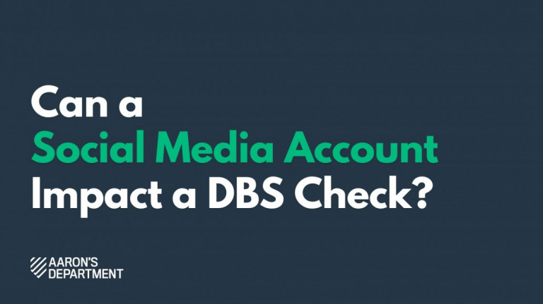 social media account affect dbs check