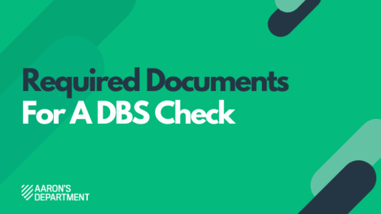 Documents needed for a DBS check